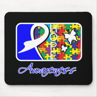 Hope Butterfly Tile Card Autism Mousepads