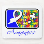 Hope Butterfly Tile Card Autism Mousepad