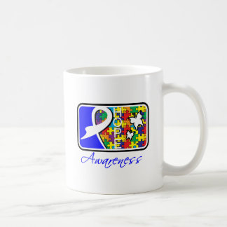 Hope Butterfly Tile Card Autism Coffee Mugs