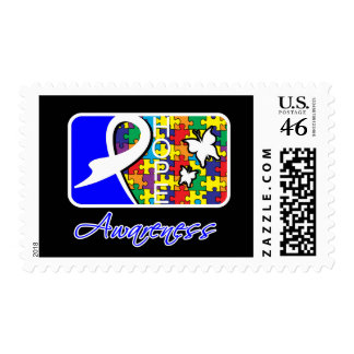 Hope Butterfly Tile Card Autism Postage Stamp