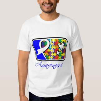 Hope Butterfly Tile Card Autism T-shirt