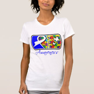 Hope Butterfly Tile Card Autism Tee Shirt