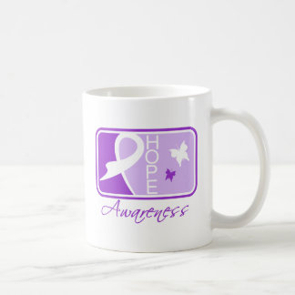Hope Butterfly Tile Card Domestic Violence Classic White Coffee Mug