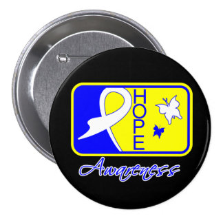 Hope Butterfly Tile Card Down Syndrome Buttons