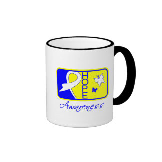 Hope Butterfly Tile Card Down Syndrome Ringer Coffee Mug