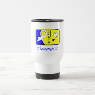 Hope Butterfly Tile Card Down Syndrome 15 Oz Stainless Steel Travel Mug