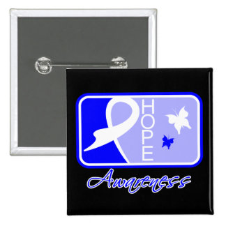 Hope Butterfly Tile Card Rectal Cancer Pin