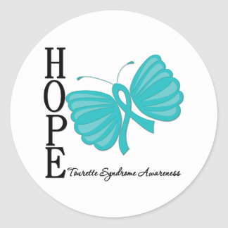 Hope Butterfly Tourette Syndrome Round Sticker