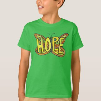 Hope Butterfly Word Art Inspirational Custom Shirt
