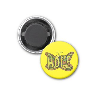 Hope Butterfly Word Art Inspirational Magnets