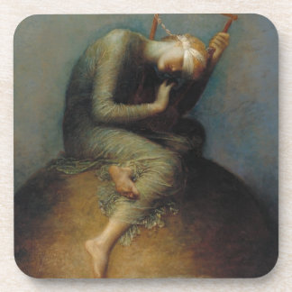 Hope by George Frederick Watts Beverage Coaster