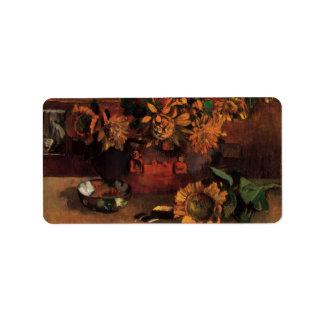 Hope by Paul Gauguin, Vintage Impressionism Art Custom Address Labels