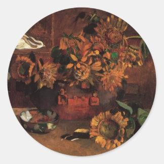 Hope by Paul Gauguin Vintage Impressionism Art Round Sticker