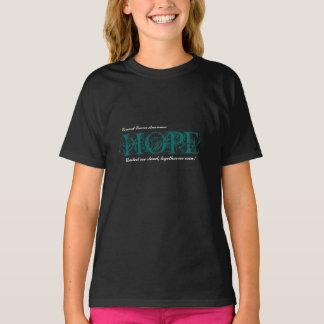 Hope Cancer Awareness Drk Tshirt - Cervical Cancer