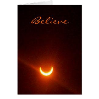 Hope card, believe. eclipse. card