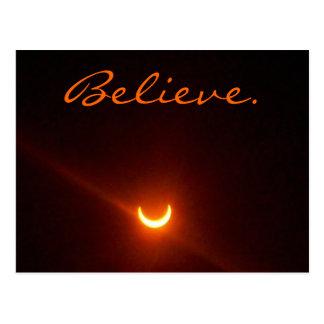 Hope card, believe. eclipse. postcard