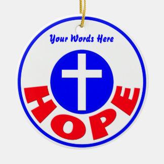 Hope Ceramic Ornament