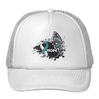 Hope Cervical Cancer Butterfly Hat