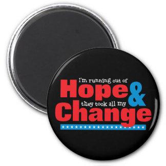 Hope & Change 2 Inch Round Magnet