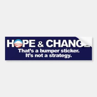 Hope & Change - Anti Obama Bumper Sticker