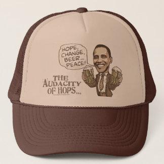 Hope, Change, Beer... Peace Barack Obama Trucker Hat
