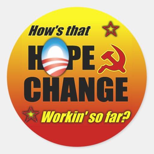 Hope & Change? Classic Round Sticker