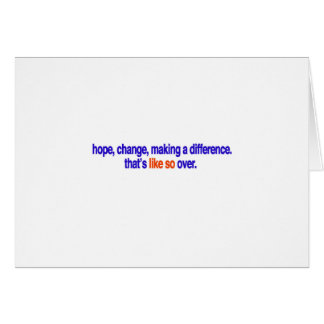 Hope, change, making a difference greeting card