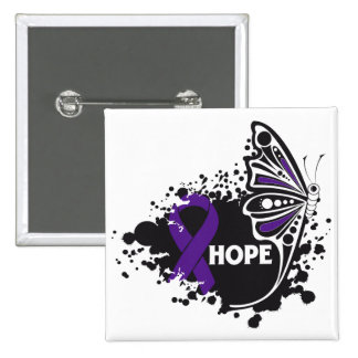 Hope Chiari Malformation Butterfly Pinback Button