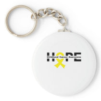 Hope Childhood Cancer Awareness Gifts Keychain