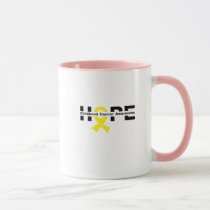 Hope Childhood Cancer Awareness Gifts Mug
