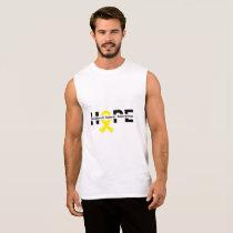 Hope Childhood Cancer Awareness Gifts Sleeveless Shirt