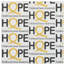 Hope: Childhood Cancer Fabric