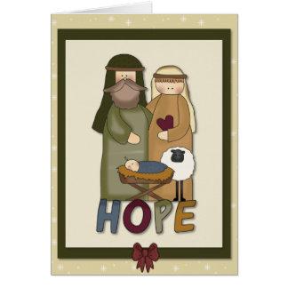 Hope Christian Christmas Greeting Card