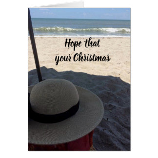 HOPE ***CHRISTMAS** IS LIKE A *DAY AT THE BEACH CARD