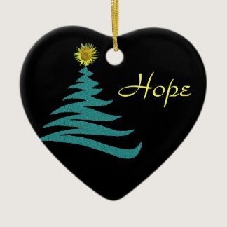 Hope Christmas Tree Ornament - Heart