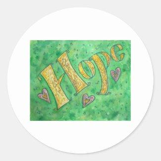 Hope Classic Round Sticker