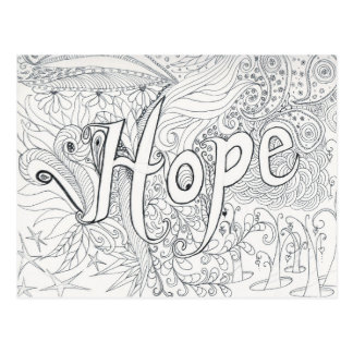 hope coloring postcard gift