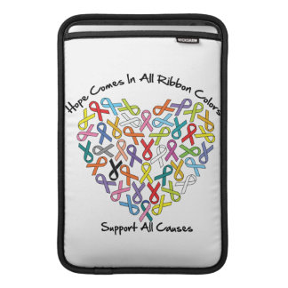 Hope Comes In All Ribbon Colors MacBook Sleeve