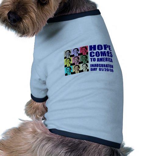 Hope Comes to America Doggie Tshirt