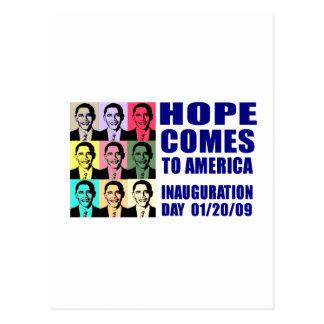 Hope Comes to America Postcard