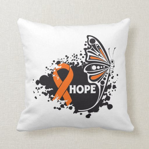 Hope COPD Butterfly Throw Pillow
