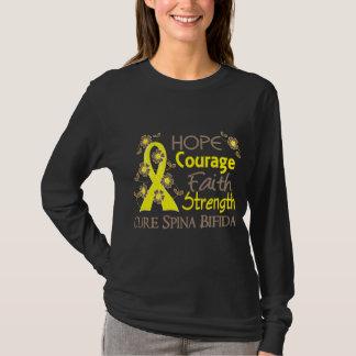 Hope Courage 3 Spina Bifida T-Shirt