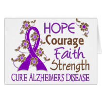 Hope Courage Faith Strength 3 Alzheimer's Disease