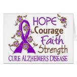 Hope Courage Faith Strength 3 Alzheimer's Disease Greeting Card