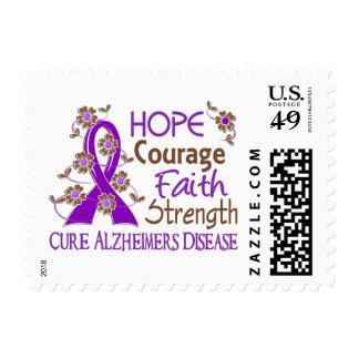 Hope Courage Faith Strength 3 Alzheimer's Disease Stamp
