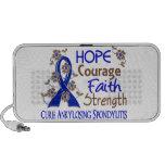 Hope Courage Faith Strength 3 Ankylosing Spondylit iPod Speaker