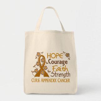 Hope Courage Faith Strength 3 Appendix Cancer Bag