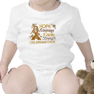 Hope Courage Faith Strength 3 Appendix Cancer Romper