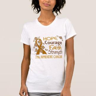 Hope Courage Faith Strength 3 Appendix Cancer Tees
