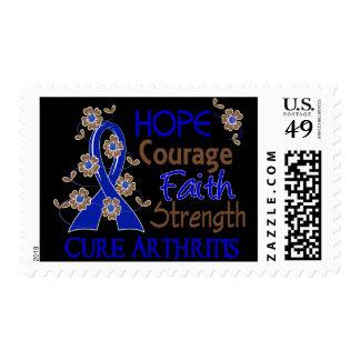 Hope Courage Faith Strength 3 Arthritis Stamp
